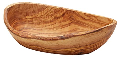 Olivo-Cuenco ovalado 35cm madera de olivo