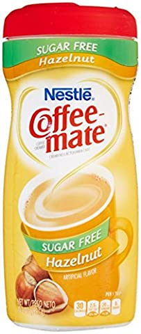 Coffee-Mate Hazelnut, Sugar-Free Powdered Coffee Creamer, 10.2-Ounce - USA IMPORT