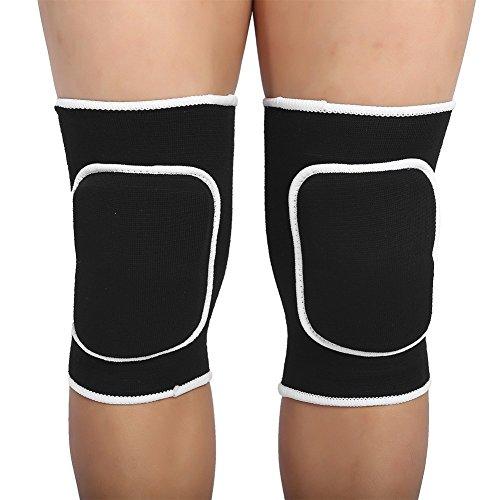 Kniebandage Elastischer Kniestützer für Erwachsene und Kinder Schutz bei Volleyball Basketball Laufen Joggen Sport(Schwarz)