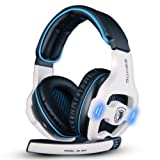 Sades SA903 7.1 USB-Gaming-Headset mit Surround-Sound/Stereoklang und integrierter Soundkarte