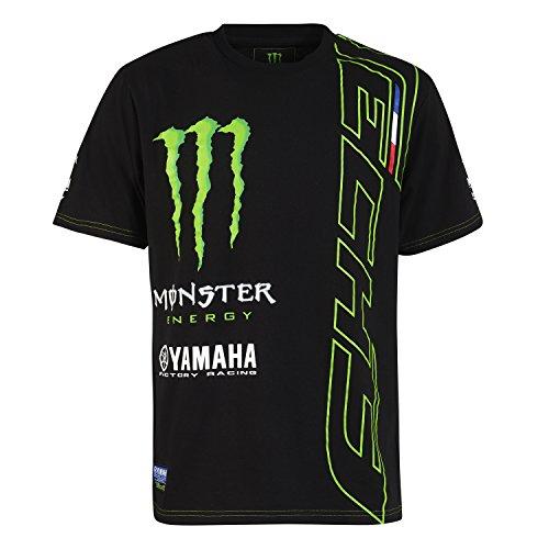Monster Tech3 Herren 18T3M-ACT2 T-Shirt, schwarz/grün, FR : S (Taille Fabricant : S)