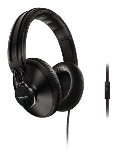 Philips CitiScape Uptown - Auriculares de diadema cerrados (con micrófono, reducción de ruido), negro