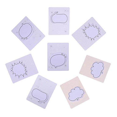 bloomeet 4er Pack Cartoon Tier Muster Papier Sticky Memo Notes Haftnotizen Set Seite Marker Tab Aufkleber Neuheit Sticky Note Pads, 30Blatt pro Pad, 4Pads pro Packung 8 Pack Speech Bubble