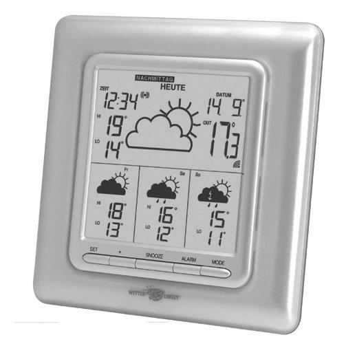 Technoline WetterDirektStation WD 4003, Silber, 2-teilig bestehend aus Station und Sensor