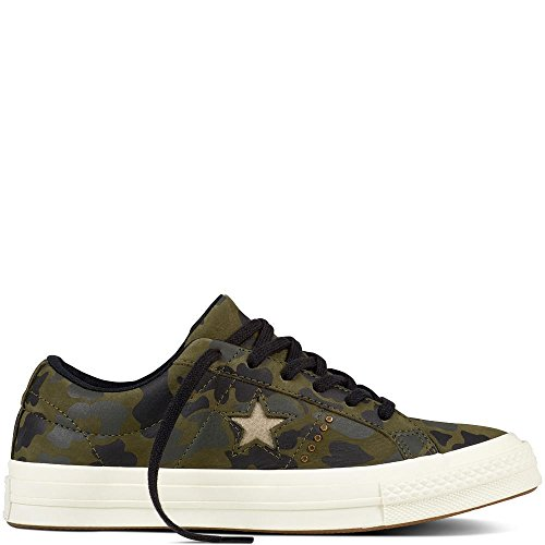 new concept 45f64 c1ce4 Converse Lifestyle One Star Ox Nubuck, Scarpe da Fitness Unisex-Adulto,  Verde (Herbal/Light Gold/Egret 342), 40 EU
