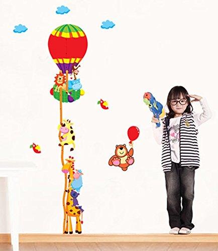 "Wandsticker Wandtattoo Wandbild Wandaufkleber Messlatte Maßband Growth Chart ""Heißluftballon"" 44409 für Schlafzimmer Wohnzimmer Badezimmer Kinderzimmer"