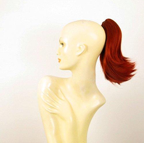 Postiche queue de cheval extension femme roux cuivré intense courte 28 cm ref 9 en 350