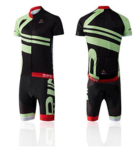 Rare Radfahren Kleidung Breathable Radfahren Jersey 4D gepolsterte MTB Kurzarm Set Anti-UV Sommer Fahrrad Bekleidung Fahrrad Reitanzüge , green , l
