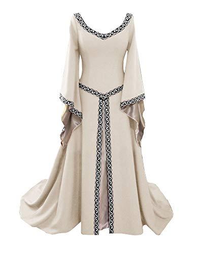 Liangzhu Damen Langarm Mittelalter Kleid Gothic Viktorianischen Königin -