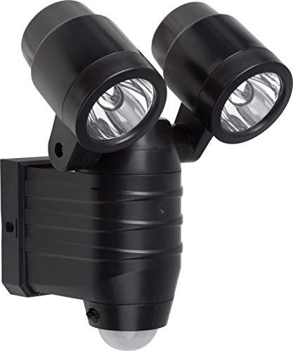 Meister LED-Außenstrahler - 8 Watt - Batteriebetrieben - Bewegungsmelder - 8 m Reichweite - Spritzwasserschutz - 380 Lumen / Außenleuchte mit Bewegungssensor / Wandfluter / Flutlicht / 7490120