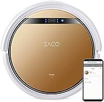 ZACO V5sPro robotstofzuiger met dweilfunctie, automatische stofzuiger, 2-in-1 nat wissen tot 180 m2 of stofzuigen, voor...
