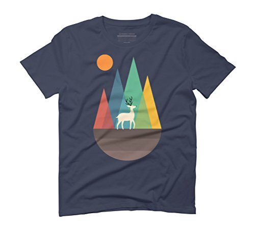 Step Of Autumn Men's Graphic T-Shirt - Design By Humans Navy