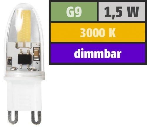 Preisvergleich Produktbild LED-Stiftsockellampe McShine ''Silicia COB''. G9. 1.5W. 180 lm. warmweiß. dimmbar