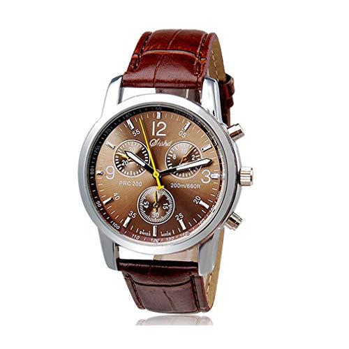 Holeider Herren Retro Uhren |Männer Elegant Dekoration Geschenk Quarzwerk |Analoge Kunstleder Braun | Klassisch Römische Ziffern Quarzuhr | PU Leder Modisch Zeitloses Armbanduhr