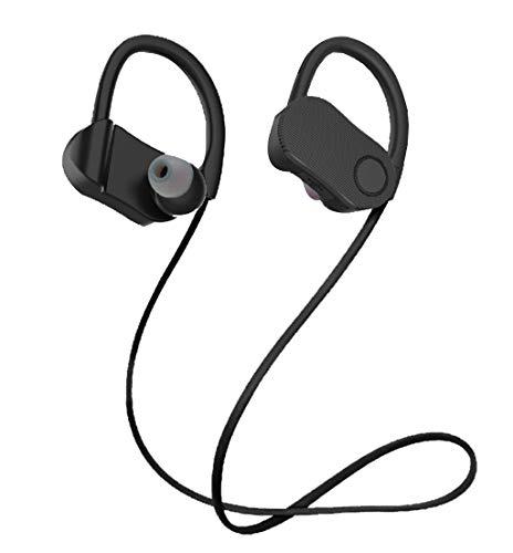 Bluetooth Sport-Kopfhörer-Metallohr-Oberteil Gute Tonqualität hängender Stutzen (Schwarz)