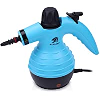 MLMLANT Multi-Purpose Super Light Handheld Pressurized Steam Cleaner with 9-Piece Accessories for Stain Removal, Carpets, Curtains, Bed Bug Control, Car Seats