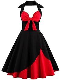 Dissa M1368 DamenRockabilly 50er Vintage Retro Kleid Partykleider Cocktailkleider