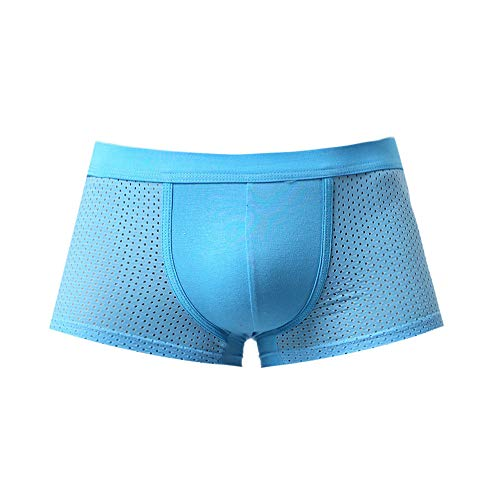 8278f720d74ed1 Anglewolf Men Patchwork Underwear Knickers Boxer Mesh Briefs Shorts Bulge  Pouch Underpants Ice Silk Men's Breathable