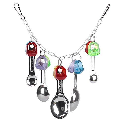 Jimfoty Jouets de Perroquet d'oiseau, Oiseau de Perroquet en Plastique coloré mâchant Jouant à Suspendre des Jouets la Cage d'accessoires de Cage