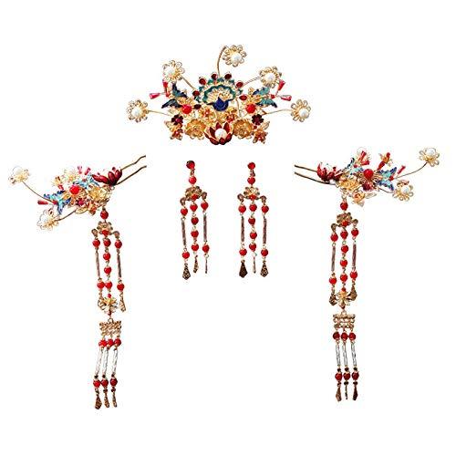 YNYA Diademe Bridal Crown chinesischen Stil einfache Fengguan Trittanzug Fengguan Xiayan Hochzeitskostüm Hochzeit weiblichen Accessoires Hochzeitsgeschenk (Zu Halloween-kostüme Machen Einfach Weiblichen)
