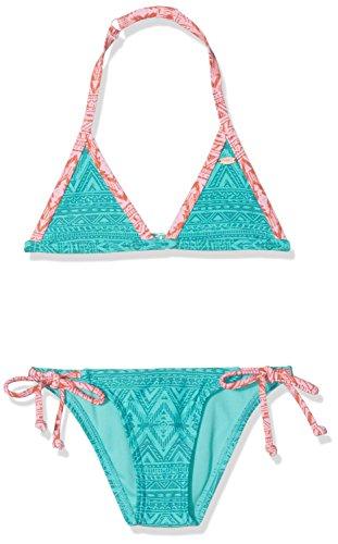 O'Neill Mädchen Oceano Triangle Bikini Bikinis, Grün Aop with Grün, 140