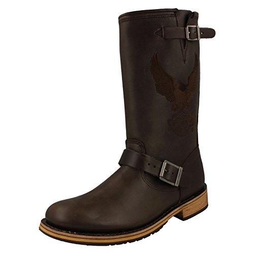 harley-davidson-botas-biker-boots-d95183-ingeniero-clint-brown-brown-grosse-schuhe-herreneur-43