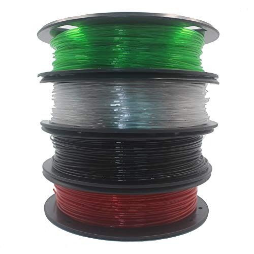 LIUYUNE,Impresora 3D PETG Filamento 200G 4Colors para CR10S ANET TEVO Printer(Color:Multi)