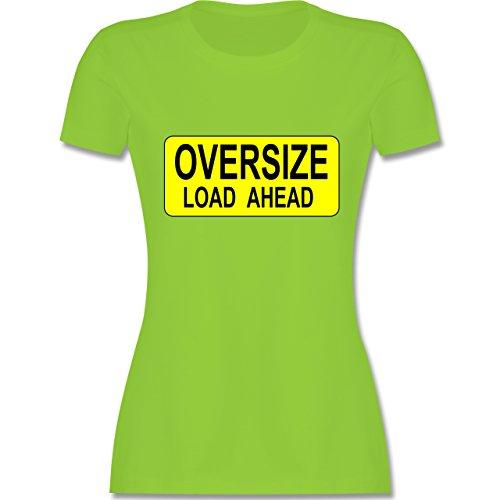 Trucker - Oversize load ahead Warnschild - tailliertes Premium T-Shirt mit Rundhalsausschnitt für Damen Hellgrün