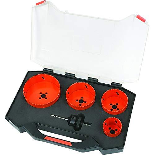 Tactix Profi HSS Bimetall Lochsägen - Set 5 tlg. im Koffer, 51 bis 111 mm