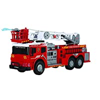 Dickie 20 344 5417 AMK Engine Detailed 61 cm Fire Truck Toy with Manual Water Pump Firehose | Realistic Lights and Sounds | Ages 4+