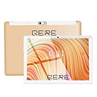 QERE QR8 with Facetime Tablet-10.1 inch,64GB,4GB RAM,WiFi,Gold