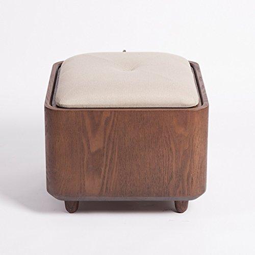 Schwarz Walnuss Massivholz Schuhe Hocker Stoff Lagerung Hocker Multi-Funktion kann den Hocker kreative minimalistischen Schreibtisch nehmen ( Color : Gray ) (Nussbaum Aus Stoff Tisch)