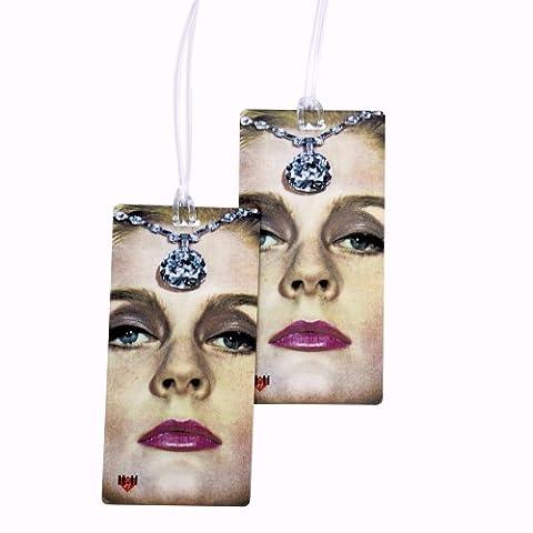 Diamant Lady Les etiquettes à bagages - 2 pièce avec de grands par 11:11