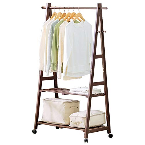 Mpy-mpy Boden Garderobe Massivholz Einfache Kleiderbügel Schlafzimmer Wohnzimmer Holz Kleiderständer Kinder Lagerregal Finish Rack (Size : 60 * 45 * 149cm)