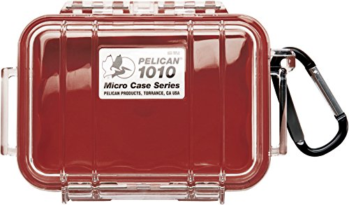 PELICAN 1015 MICRO CASE RED WITH CLEAR LID 1015 Micro Case