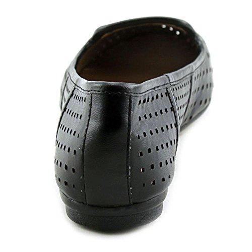 Easy Spirit e360 Gracen Large Cuir Chaussure Plate Black Mu