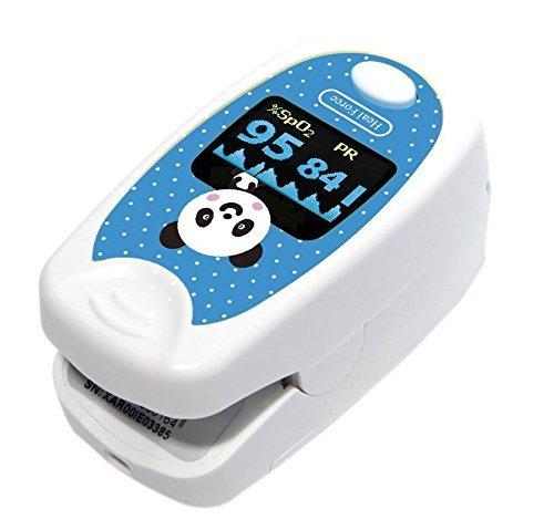 Heal Force 100B1Pulsoximeter, Finger, für Kinder von Emperor of Gadgets® (mit Tragetasche wie Bonus Gratis.) -