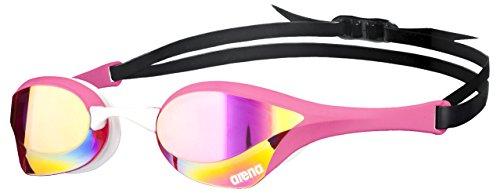 arena Unisex Wettkampf Profi Schwimmbrille Cobra Ultra Mirror (Verspiegelt, UV-Schutz, Anti-Fog Beschichtung), Pink Revo-Pink-White (99), One Size
