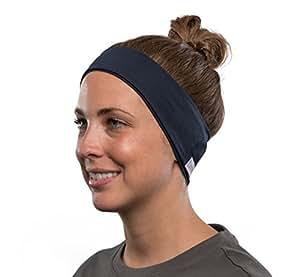 AcousticSheep weiches, dünnes SleepPhones Wireless Breeze Polyester-Stirnband mit Bluetooth, integriertem Kopfhörer für Smartphone und Tablet (Größe: XS) galaxy blau