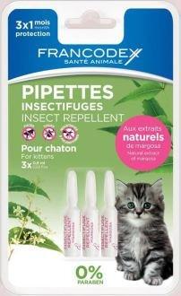 Francodex–Pipetas insectifuges para gato–3x 0,6ml