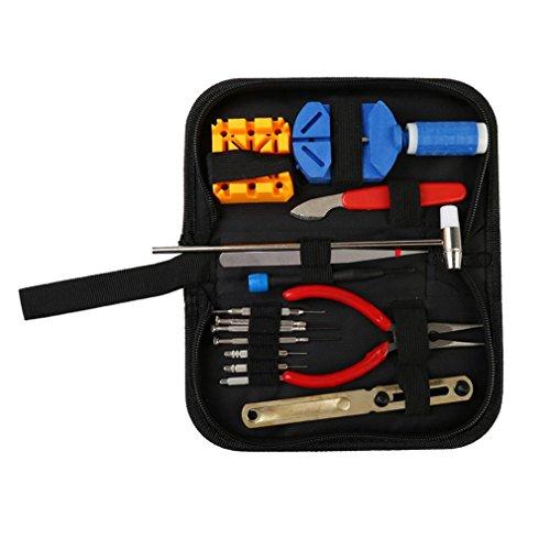 Fuse-link-kit (Prevently Uhrenwerkzeug Set 15 Stück Uhr Reparatur Werkzeuge Kit Uhrenarmband Link Pin Universal Zurück Remover-Tool Uhrmacherwerkzeug Uhrenarmband Strap Kettenbolzen Remover Reparatursatz Werkzeug für Uhrmacher (Mehrfarbig))