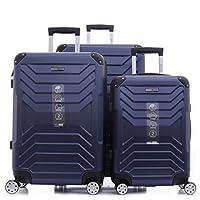 PARAJOHN Helium 3-Piece Hard Trolley Luggage Set Dark Blue
