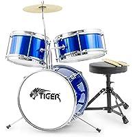 Tiger 3 Piece Junior Drum Kit - Blue