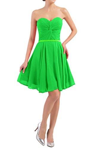 Victory Bridal Einfach Traegerlos Herzausschnitt Cocktailkleider Abendkleider Partykleider Kurz Mini Grün