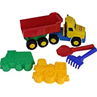 "Polesie 4215 68"" Favorite Dump Truck 2 Forms (Truckwithlocomotive) Shovel No. 2 Rake No. 2-Set with Vehicles, Multi Colour"