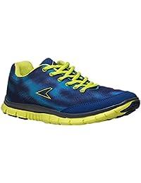 BATA Power Men's Blue & Green Running Shoes