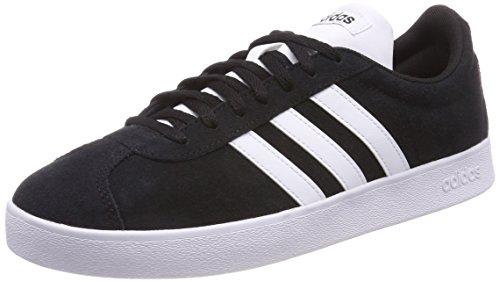 online store 21d3f f3522 adidas VL Court 2.0, Zapatillas de Skateboard para Hombre, Negro Core Black  FTWR White