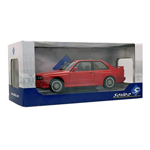 Solido-BMW-M3E30-1990Coche de ferrocarril de Collection, 1801502, Rojo, Talla única