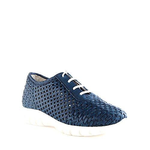 Felmini - Scarpe Donna - Innamorarsi com Runner 9570 - Sneakers - Pelle Genuina - Blu - 38 EU Size