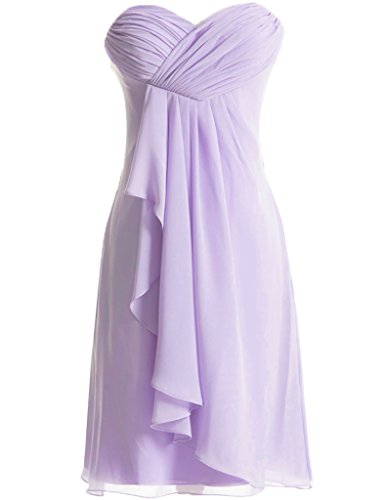 HUINI Damen Kleid Lila